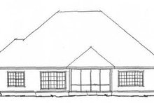 Cottage Exterior - Rear Elevation Plan #20-1362
