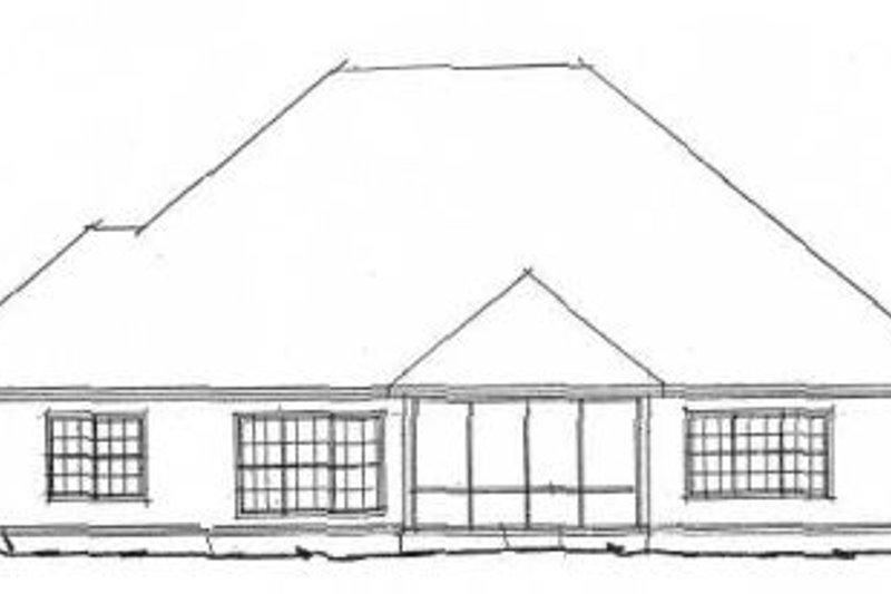 Cottage Exterior - Rear Elevation Plan #20-1362 - Houseplans.com