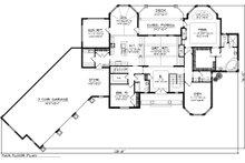 Ranch Floor Plan - Main Floor Plan Plan #70-1063