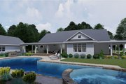 Farmhouse Style House Plan - 3 Beds 2 Baths 2748 Sq/Ft Plan #120-254 Exterior - Rear Elevation