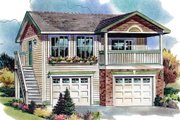 Traditional Style House Plan - 1 Beds 1 Baths 583 Sq/Ft Plan #18-4526 Exterior - Front Elevation
