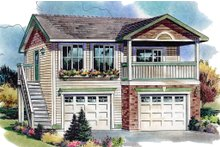 House Plan Design - Traditional Exterior - Front Elevation Plan #18-4526