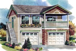 Traditional Exterior - Front Elevation Plan #18-4526