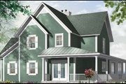 Country Style House Plan - 4 Beds 3.5 Baths 2841 Sq/Ft Plan #23-420 Exterior - Front Elevation