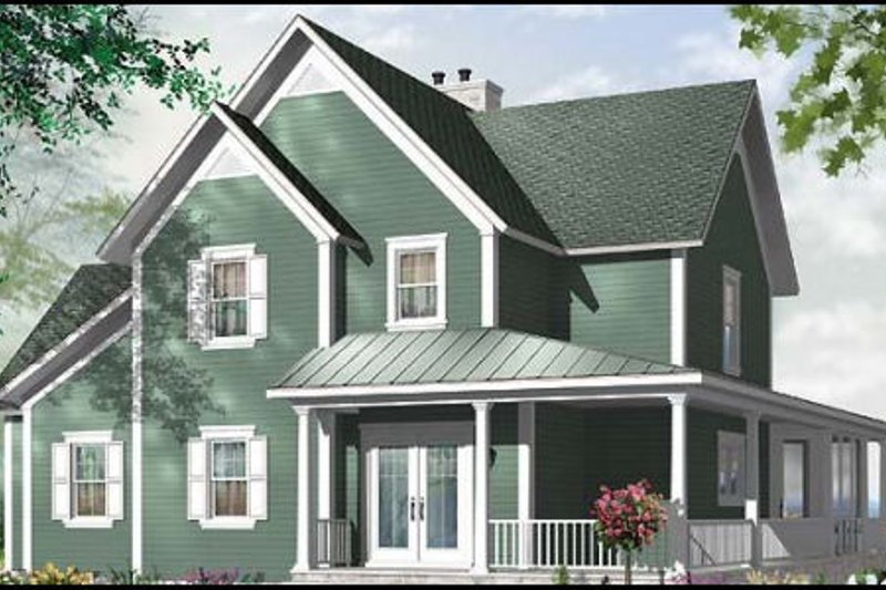 Country Exterior - Front Elevation Plan #23-420 - Houseplans.com
