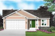 Traditional Style House Plan - 2 Beds 1 Baths 1024 Sq/Ft Plan #49-183 Exterior - Front Elevation