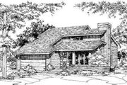 House Plan - 3 Beds 2 Baths 1296 Sq/Ft Plan #320-121 Exterior - Front Elevation