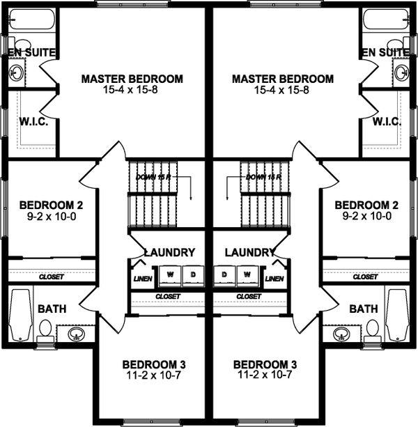 Craftsman Floor Plan - Upper Floor Plan #126-196
