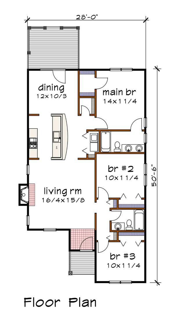 Dream House Plan - Southern Floor Plan - Main Floor Plan #79-161