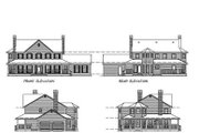 Country Style House Plan - 4 Beds 3 Baths 2582 Sq/Ft Plan #47-192 Exterior - Rear Elevation