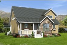 Country Exterior - Front Elevation Plan #932-12