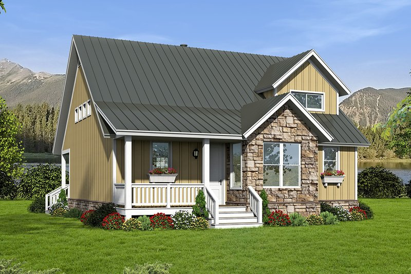 Home Plan - Country Exterior - Front Elevation Plan #932-12