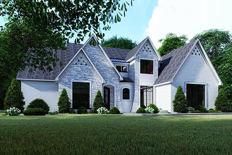 Contemporary Style House Plan - 3 Beds 4.5 Baths 2641 Sq/Ft Plan #923-125 Exterior - Front Elevation