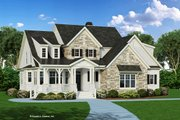 Craftsman Style House Plan - 3 Beds 2.5 Baths 2592 Sq/Ft Plan #929-833 Exterior - Front Elevation
