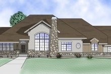 Home Plan - Adobe / Southwestern Exterior - Front Elevation Plan #5-151