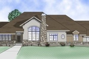 Adobe / Southwestern Exterior - Front Elevation Plan #5-151