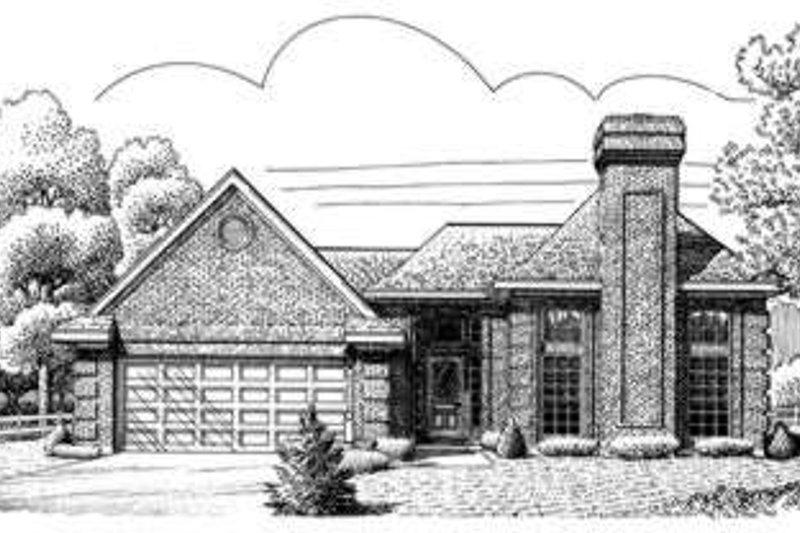 Home Plan - European Exterior - Front Elevation Plan #410-381