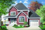 Traditional Style House Plan - 3 Beds 2 Baths 1432 Sq/Ft Plan #23-372 Exterior - Front Elevation
