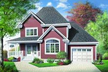 Traditional Exterior - Front Elevation Plan #23-372
