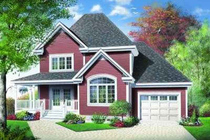 Dream House Plan - Traditional Exterior - Front Elevation Plan #23-372