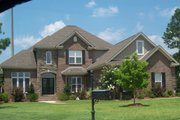 Traditional Style House Plan - 4 Beds 4 Baths 3307 Sq/Ft Plan #63-132 Exterior - Front Elevation