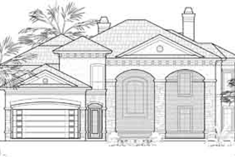 European Exterior - Front Elevation Plan #61-372