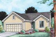 Ranch Style House Plan - 2 Beds 2 Baths 1268 Sq/Ft Plan #20-1506 Exterior - Front Elevation