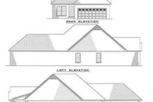 House Plan Design - Traditional Exterior - Rear Elevation Plan #17-126