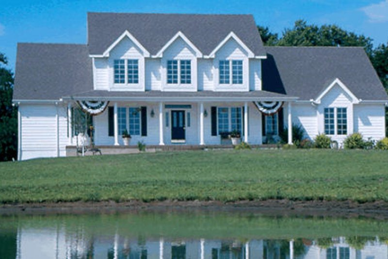 Home Plan - Farmhouse Exterior - Front Elevation Plan #20-208