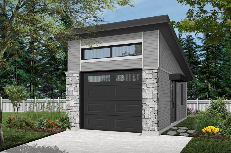 Traditional Style House Plan - 0 Beds 0 Baths 384 Sq/Ft Plan #23-2633