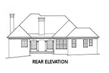 Home Plan - Traditional Exterior - Rear Elevation Plan #429-29