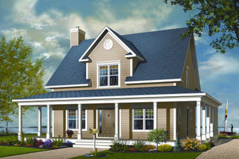 Traditional Exterior - Front Elevation Plan #23-822 - Houseplans.com