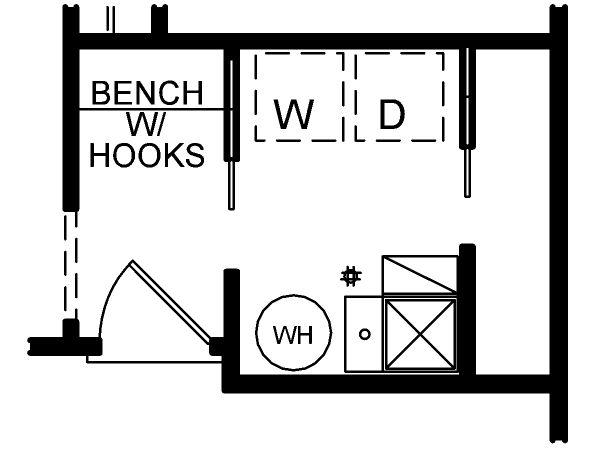 Dream House Plan - Optional Rear Foyer