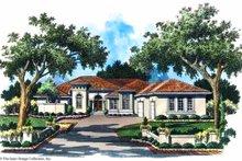 House Plan Design - Mediterranean Exterior - Front Elevation Plan #930-102