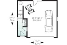 Traditional Floor Plan - Lower Floor Plan Plan #23-443