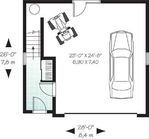 Traditional Floor Plan - Lower Floor Plan Plan #23-443
