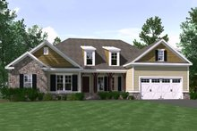 Ranch Exterior - Front Elevation Plan #1071-3