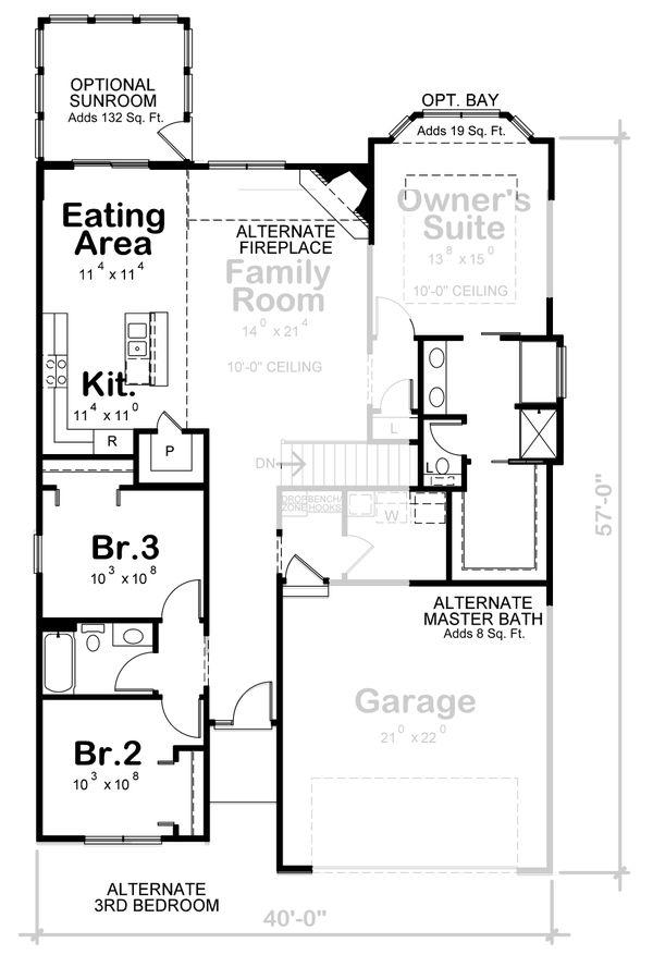 Craftsman Floor Plan - Other Floor Plan #20-2405