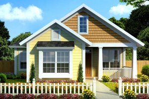 Cottage Exterior - Front Elevation Plan #513-2092