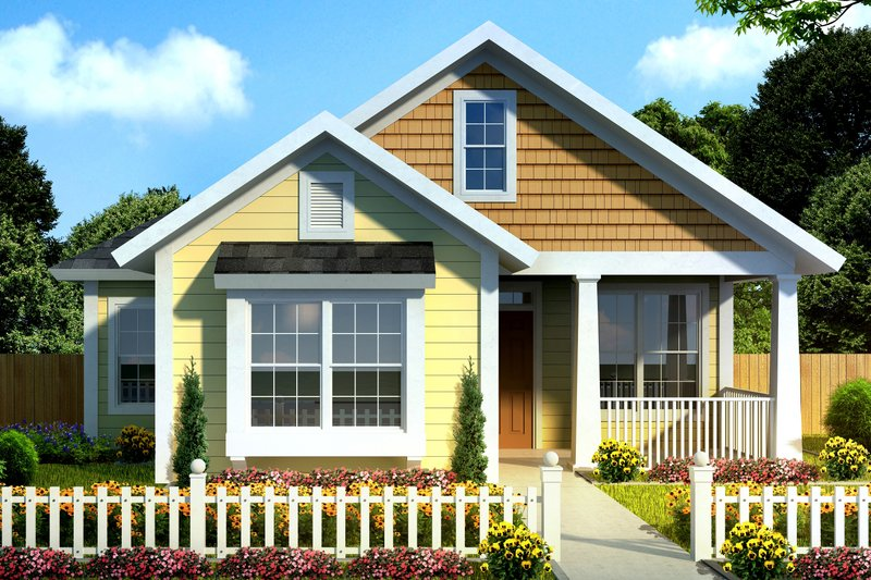 House Plan Design - Cottage Exterior - Front Elevation Plan #513-2092