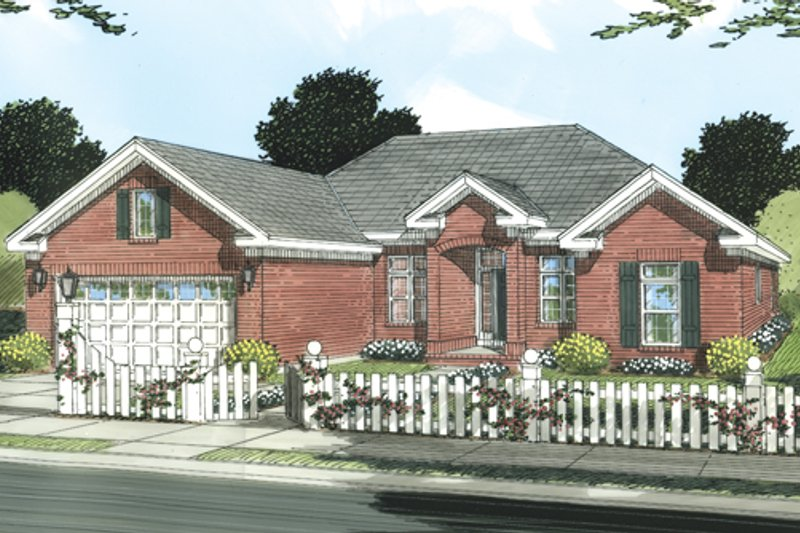 Dream House Plan - Traditional Exterior - Front Elevation Plan #513-2047