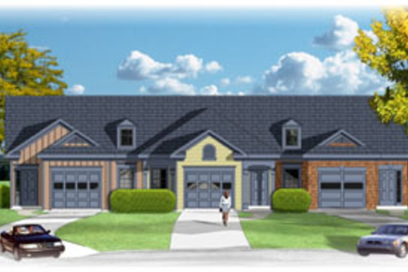 Traditional Style House Plan - 2 Beds 2 Baths 2876 Sq/Ft Plan #26-139 Exterior - Front Elevation