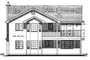 European Style House Plan - 3 Beds 2 Baths 1288 Sq/Ft Plan #18-226 Exterior - Rear Elevation