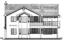 European Exterior - Rear Elevation Plan #18-226