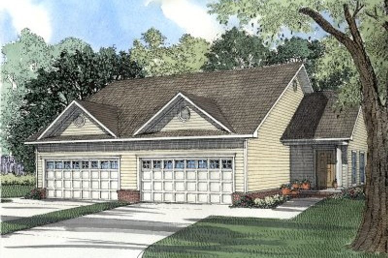 Home Plan - Country Exterior - Front Elevation Plan #17-1084