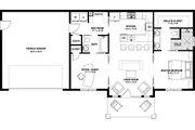 Farmhouse Style House Plan - 2 Beds 2 Baths 928 Sq/Ft Plan #126-175 Floor Plan - Main Floor Plan