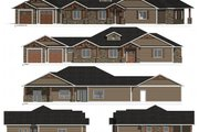 Craftsman Style House Plan - 3 Beds 2 Baths 2298 Sq/Ft Plan #1077-2 Exterior - Other Elevation