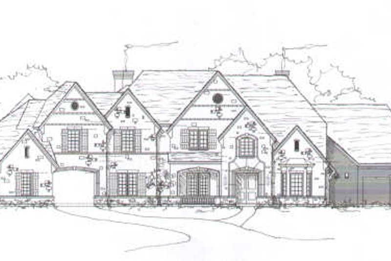 European Style House Plan - 5 Beds 5.5 Baths 5942 Sq/Ft Plan #141-240 Exterior - Front Elevation