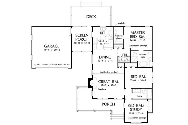 Country Floor Plan - Main Floor Plan Plan #929-47