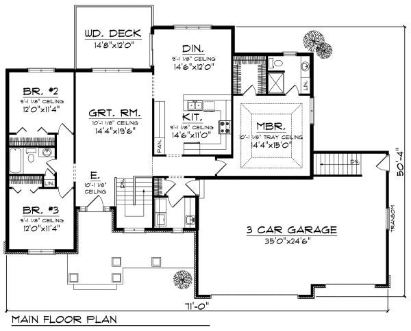 Cottage Floor Plan - Main Floor Plan Plan #70-861